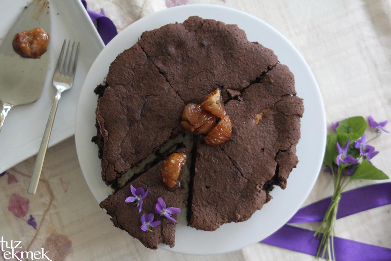 Kestaneli Çikolatalı Torte