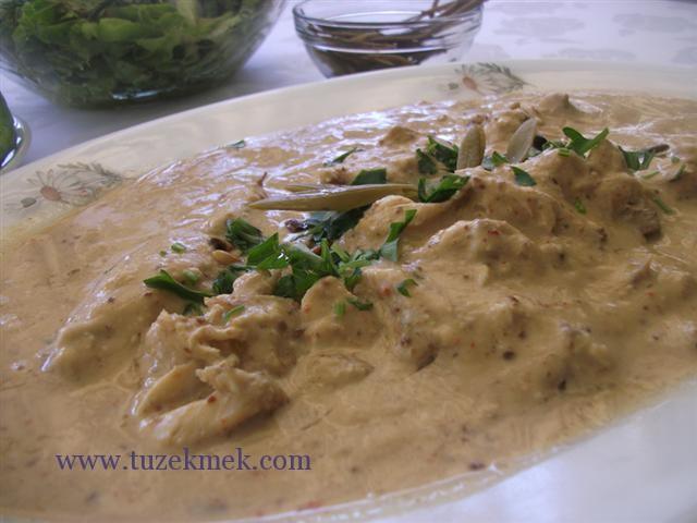 Tahin soslu balık