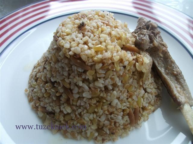 Firik pilavı- Hardal otu salatası